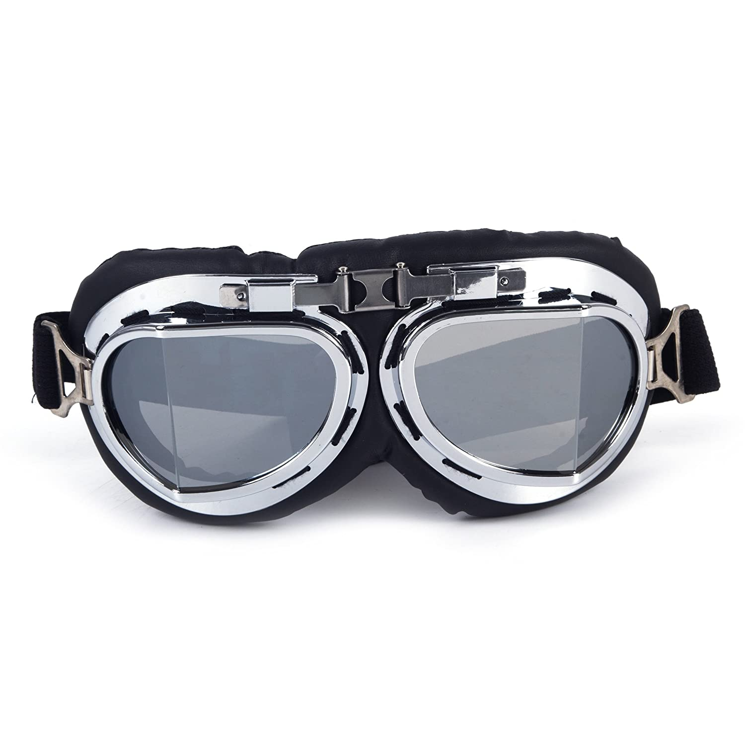 FIRSTLIKE 3-5 Days Delivery Helmet Steampunk Vintage Goggles Sunglasses Eyewear for Outdoor Sports Motocross Racer MG001-B-USA-LSY-BB