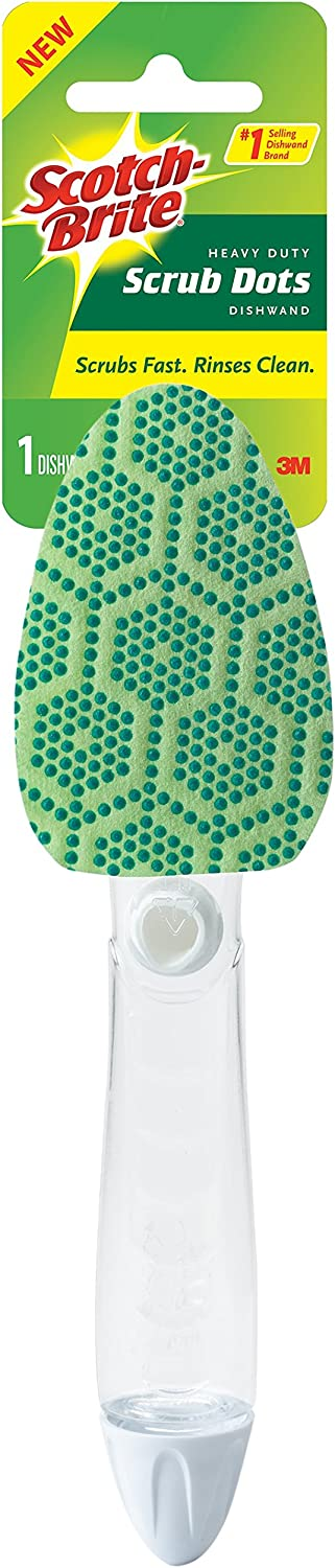 Scotch-Brite Scrub Dots Heavy Duty Dishwand, Scrubs Fast. Rinses Clean.