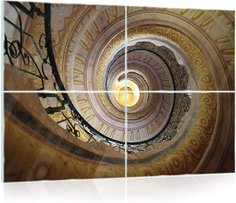 Glasbild Consalnet ForWall AMF12680_GTS10 - Cuadro de Cristal para Pared, diseño de escaleras, Vidrio, marrón, GS10 (120cm. x 80 (4x60x40)): Amazon.es: Juguetes y juegos