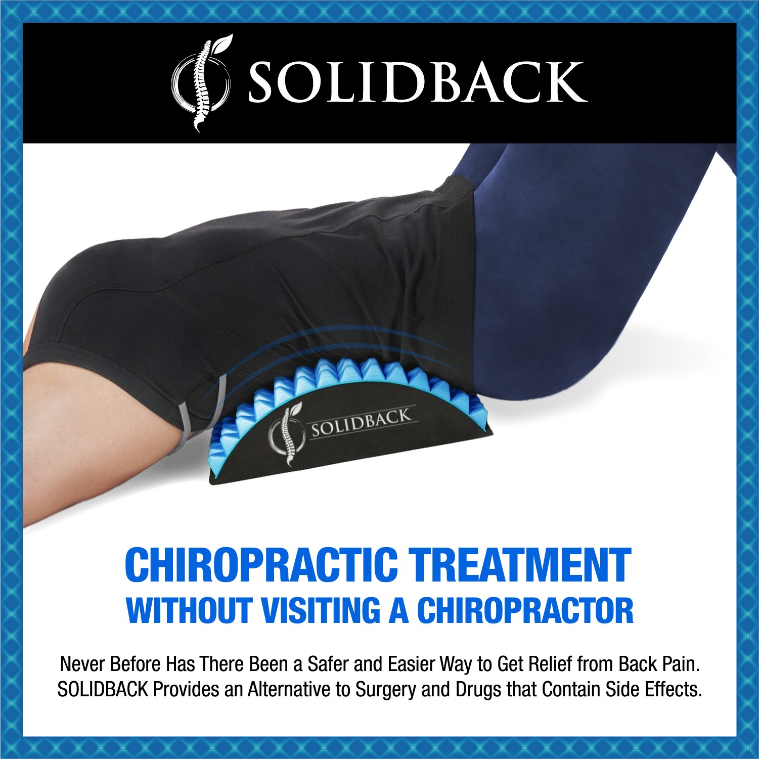 Solidback Lower Back Pain Relief Treatment Stretcher