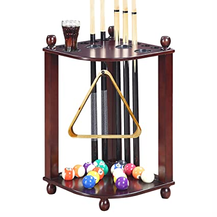 Amazoncom Hathaway Regent Corner Floor Cue Rack Mahogany Finish - Regent pool table