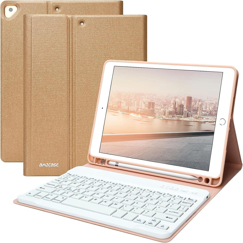 iPad 8th Generation Keyboard Case for iPad 10.2 inch 8th Gen, iPad 10.2 inch 7th Gen, iPad Pro 10.5 / iPad Air 3rd Gen Case with Keyboard, Detachable Keyboard, Auto Sleep/Wake