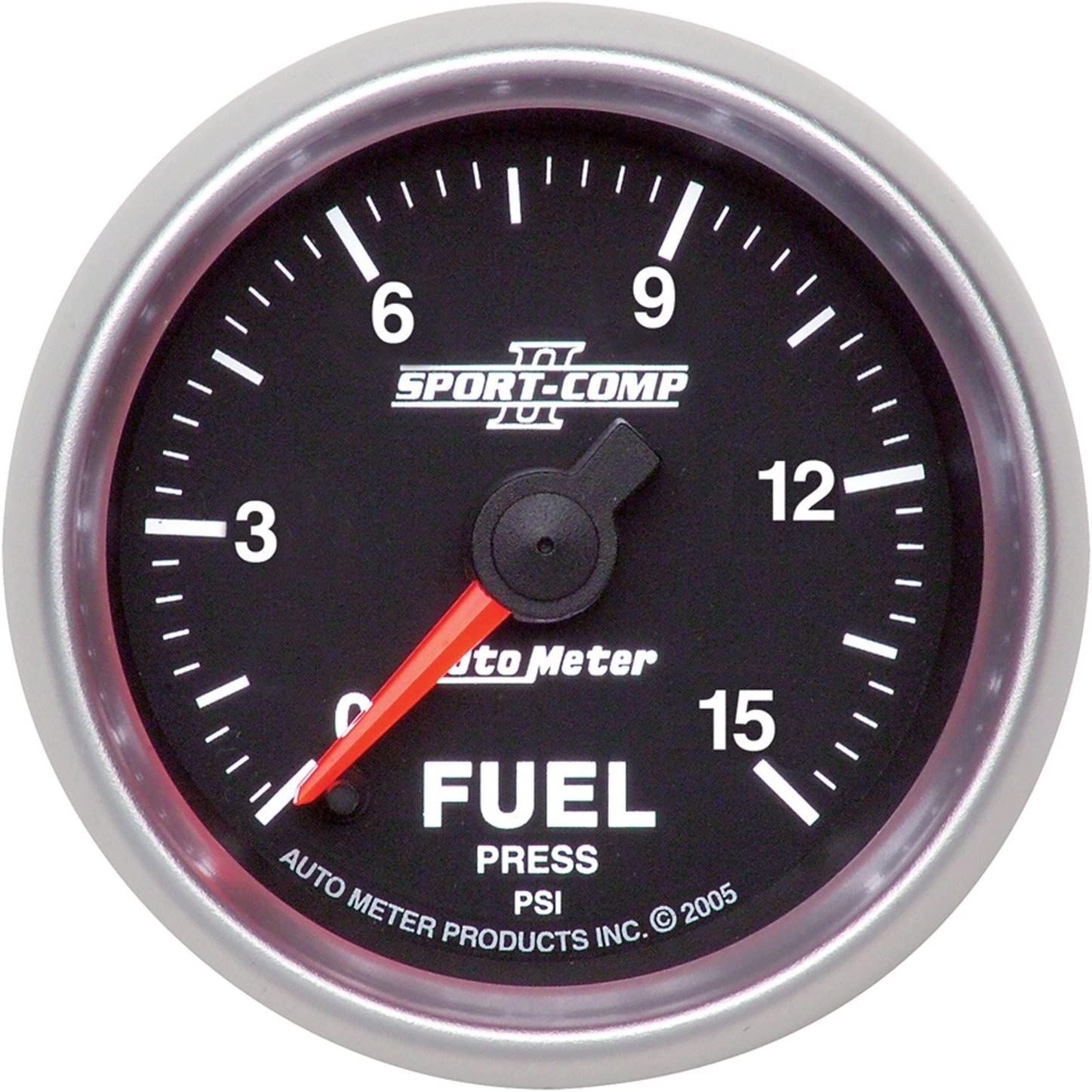 Auto Meter 3661 Sport-Comp II 2-1//16 0-15 PSI Full Sweep Electric Fuel Pressure Gauge