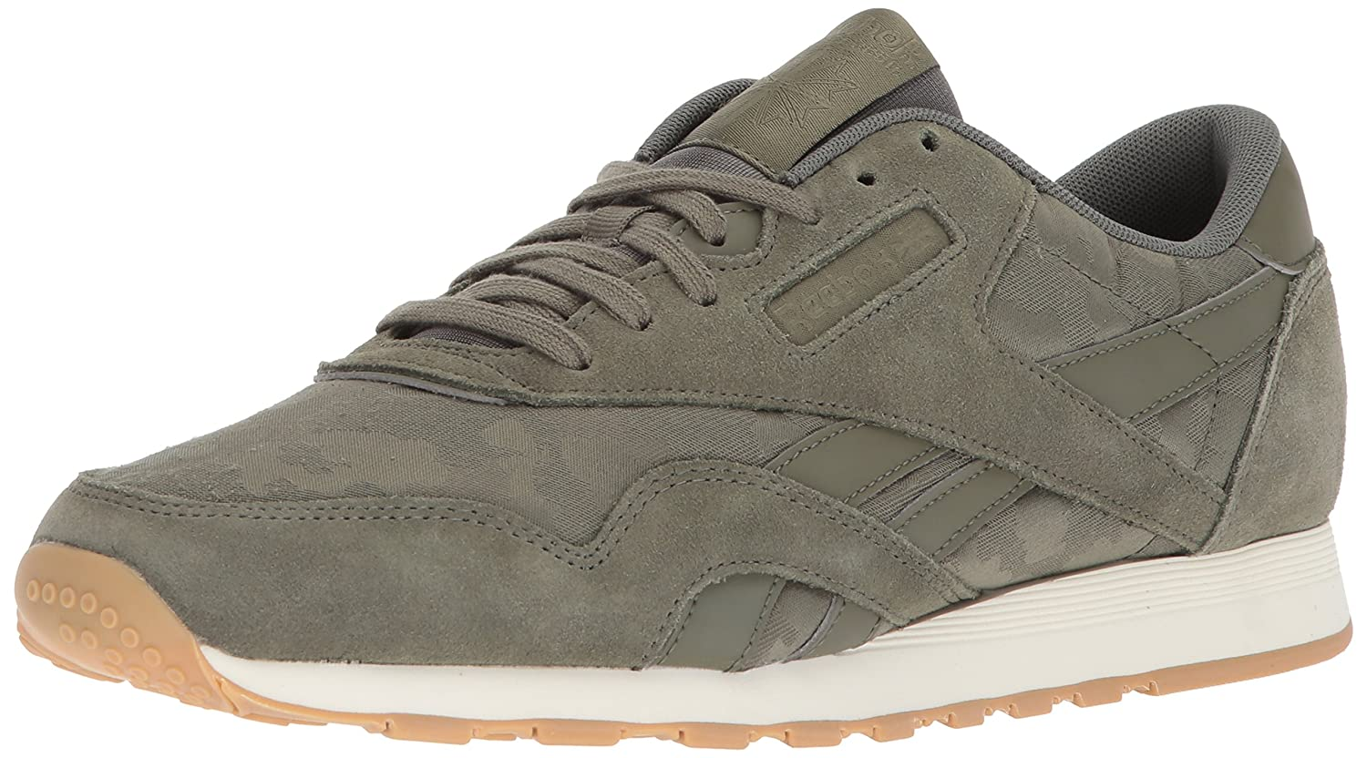 Reebok メンズ CL NYLON SG B072Q3WV24 7.5 D(M) US|Hunter Green/Chalk Hunter Green/Chalk 7.5 D(M) US