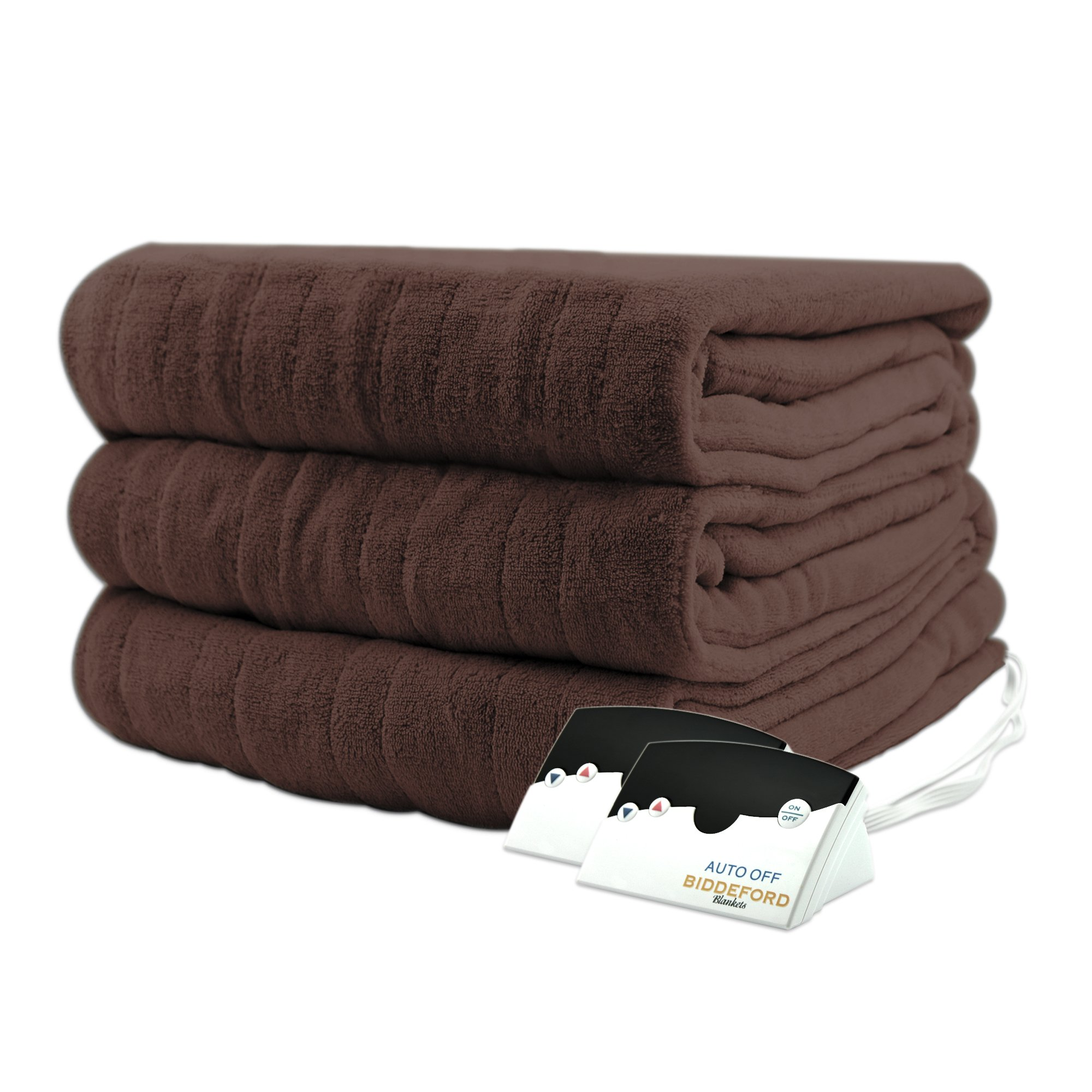 Biddeford 2023-905291-711 Electric Heated Knit MicroPlush Blanket, Queen, Chocolate by Biddeford