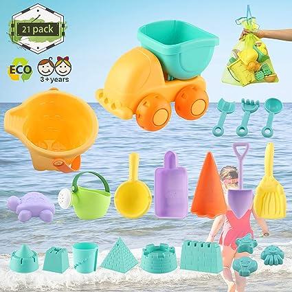 Arena de playa de plástico Set Dinosaurio Molde Rastrillo /& Pala diseño//color al azar