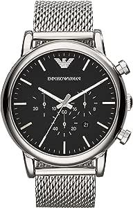 Emporio Armani Reloj Cronógrafo para Hombre de Cuarzo con Correa en Malla de Acero Inoxidable AR1808