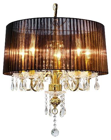 Febland beaumont five light gold chandelier metal blackgold febland beaumont five light gold chandelier metal blackgold aloadofball Image collections