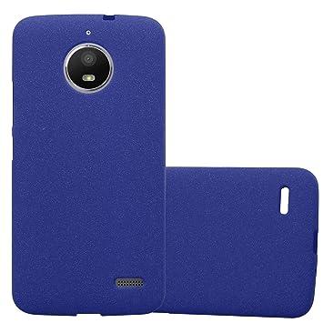 Cadorabo Funda para Motorola Moto E4 en Frost Azul Oscuro ...