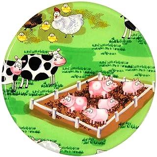 Andreas Round Silicone Mat Jar Opener, Farmyard, 6.25 Inch