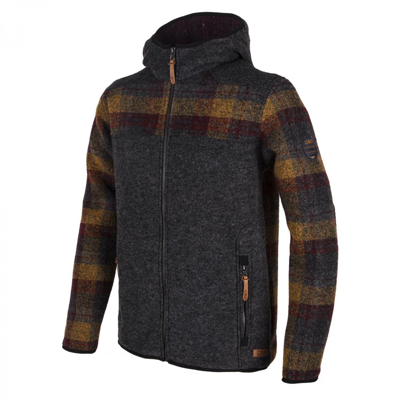 CMP Herren Jacke Fix Hood Jacket 3M30767 Carbone Mel. 52
