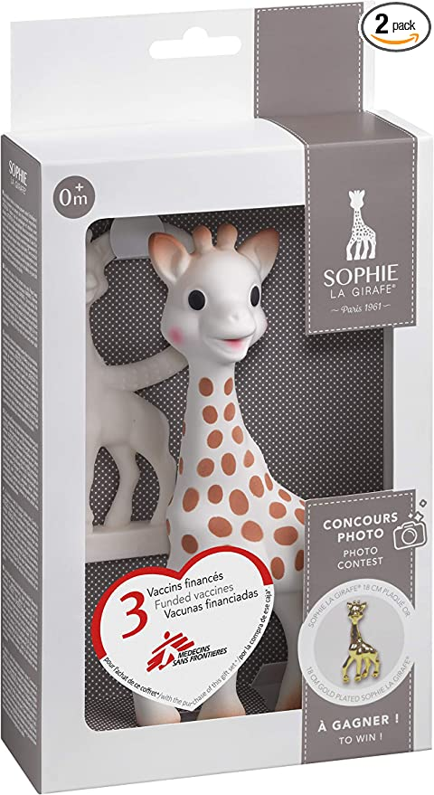 Sophie The Giraffe So Pure Teething Ring Soft Version Cream