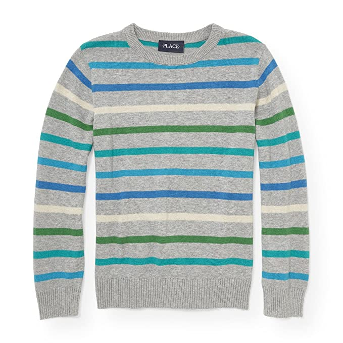 The Childrens Place Big Boys Striped Sweater