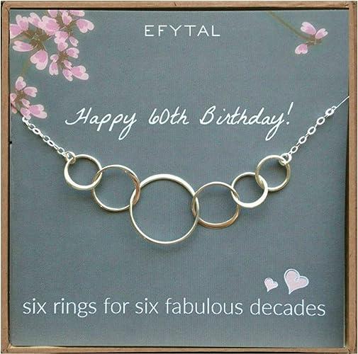 Amazon.com: EFYTAL 60º cumpleaños regalos para mujeres ...