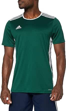 adidas Entrada 99 Camiseta de Fútbol para Hombre de Cuello Redondo en Contraste, Verde (Collegiate Green/White), 3XL