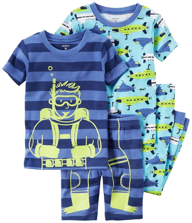 Carters Boys 4 Pc Cotton 341g281 Print 5T Carters 341G281-blue-5T