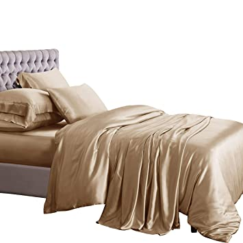 Ellesilk 3 Teiliges Seiden Bettbezug Set Seiden Bettwäsche Set Aus