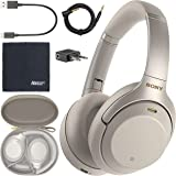 Sony WH-1000XM3 Wireless Noise-Canceling Over-Ear Headphones (Silver) WH1000XM3/S + AOM Bundle - International Version…