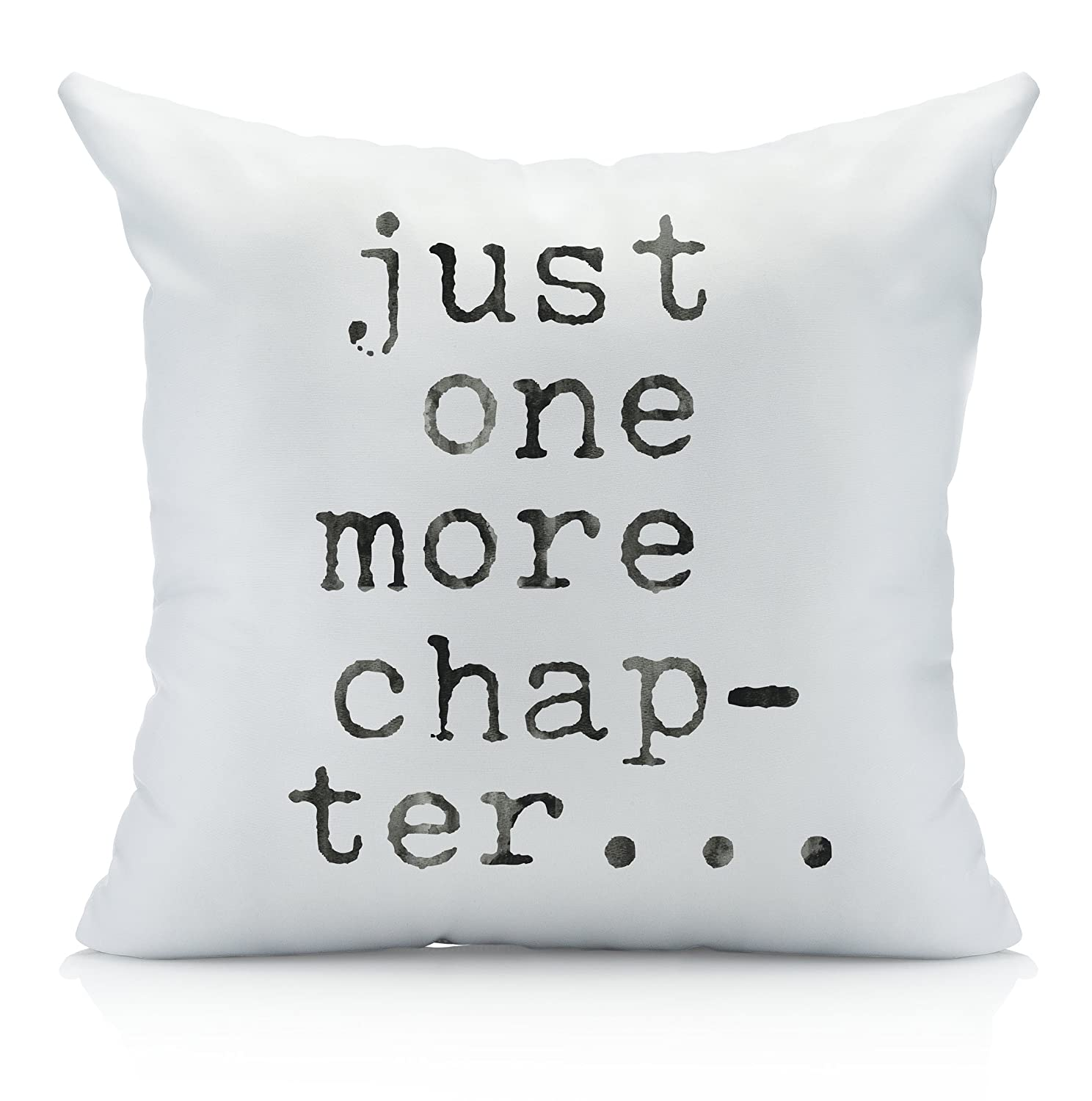 Amazon Just One More Chapter Throw Pillow Cover
