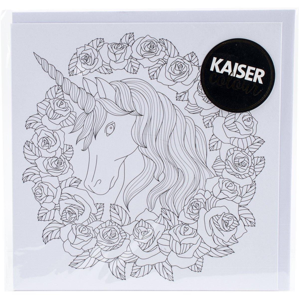 Kaisercraft Unicorn Kaisercolour Gift Card with Envelope, 6 x 6 6 x 6 CL1022
