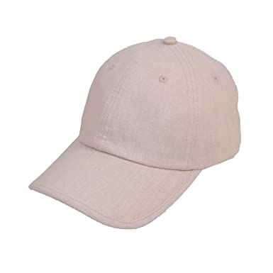 LINEN BASEBALL CAP WITH BUCKLE ADJUSTER IN 2COLOURS (BEIGE)  Amazon.co.uk   Clothing af01d821fa0