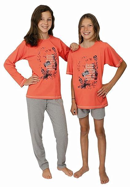 Pijamas largos para chicas 2 piezas Freedom color rojo fresa ,tallas 116-176 size