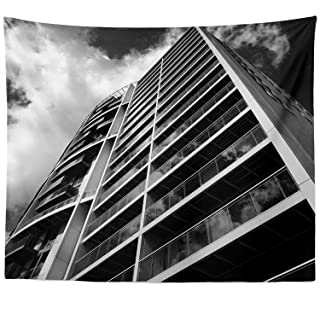 Berrykey Wall Hanging Tapestry – City Cityscape – Photography Home Decor Living Room – 51 x 60 Inch