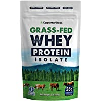 Grass Fed Whey Protein Powder Isolate - Unflavored + Cold Processed + Undenatured - Pure Wisconsin Grass-Fed Protein for…