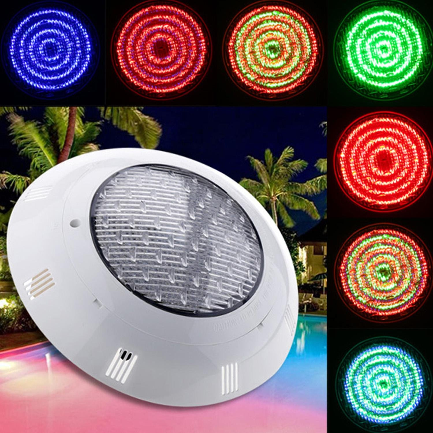 558 LED Underwater Swimming Pool Light, 33W 12V Changing Fountains Lamp with Remote Control