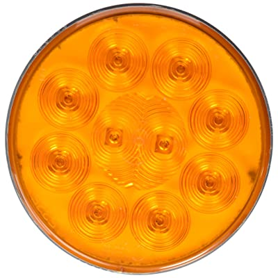 """Grote 53253 4"""" SuperNova 10-Diode Pattern LED Stop Tail Turn Light (Grommet Mount, Male Pin, Auxiliary Turn): Automotive"""