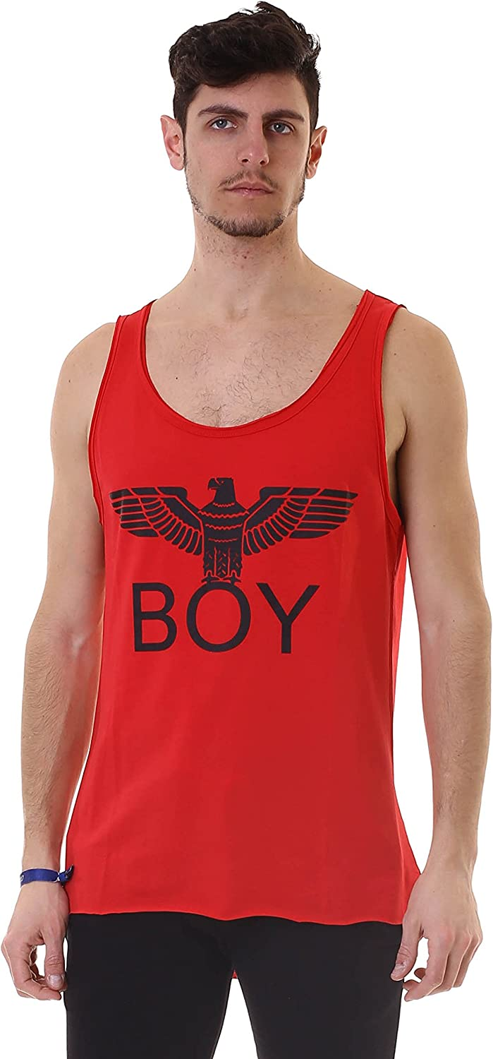 BOY LONDON Canotta Jersey Stampa Rosso