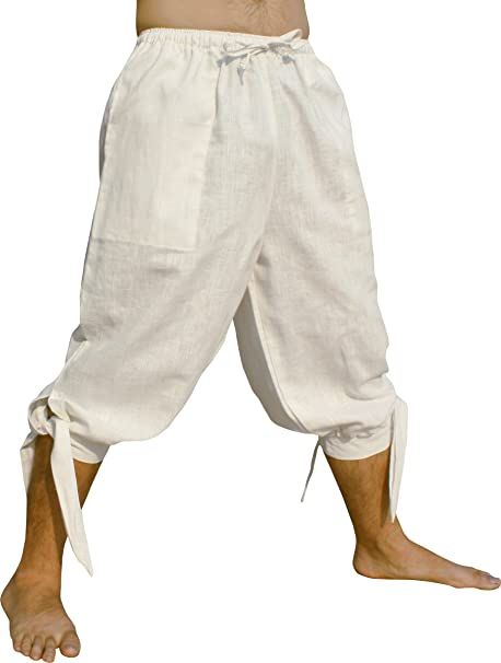 RaanPahMuang Side Tied Leg Plain Silk Cotton Buccaneer Pirate Swashbuckling Pants