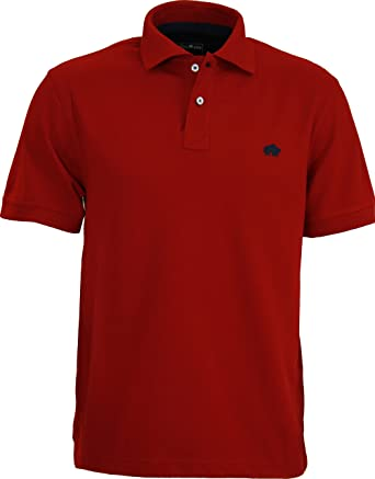 Raging Bull Polo - Para Hombre Rojo Rosso XXX-Large: Amazon.es ...