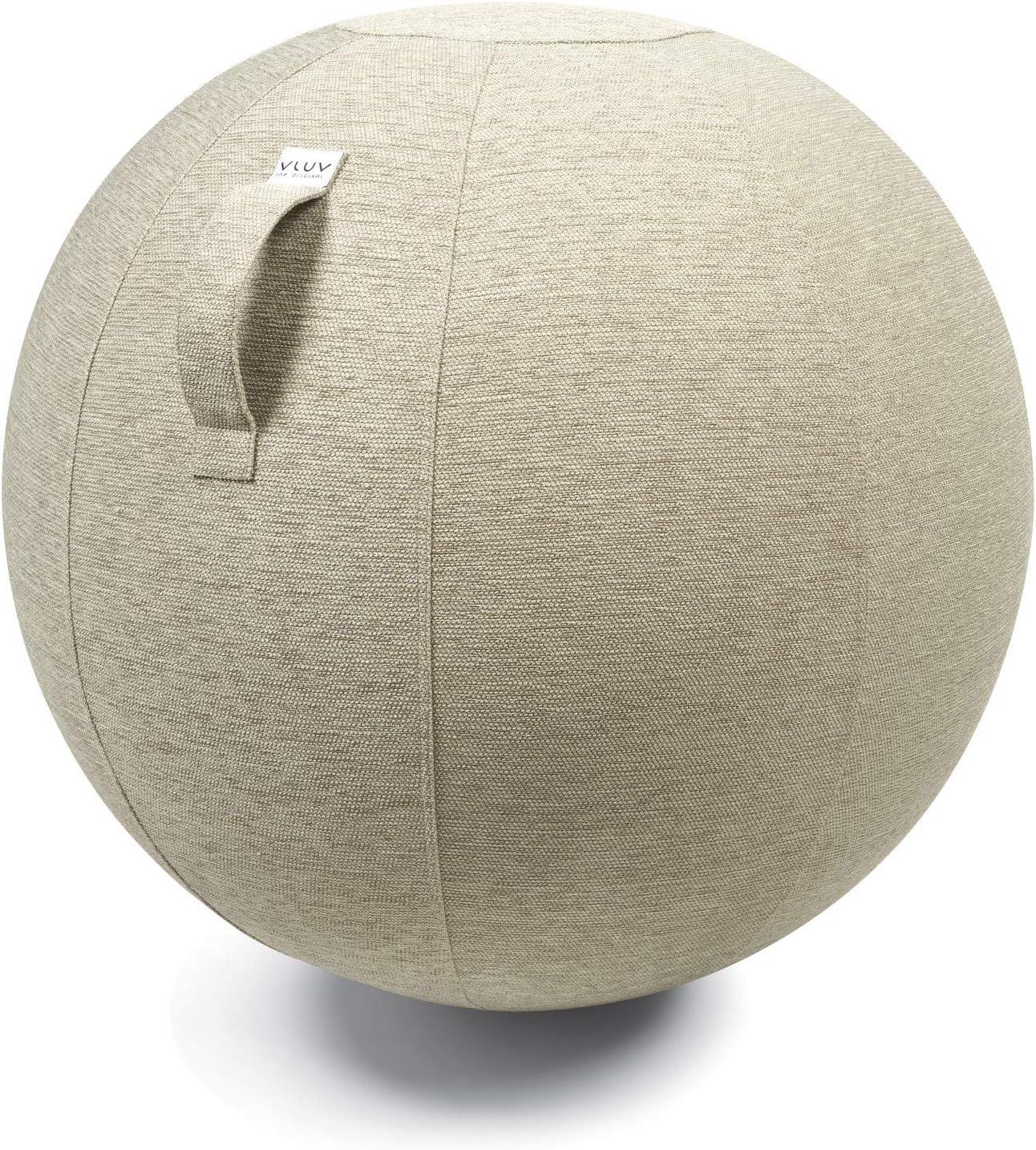 Hock VLUV STOV asiento ergonäomico, pelota con funda de tela de diseño Ø 75 cm para de trabajo, hogar - kiesel