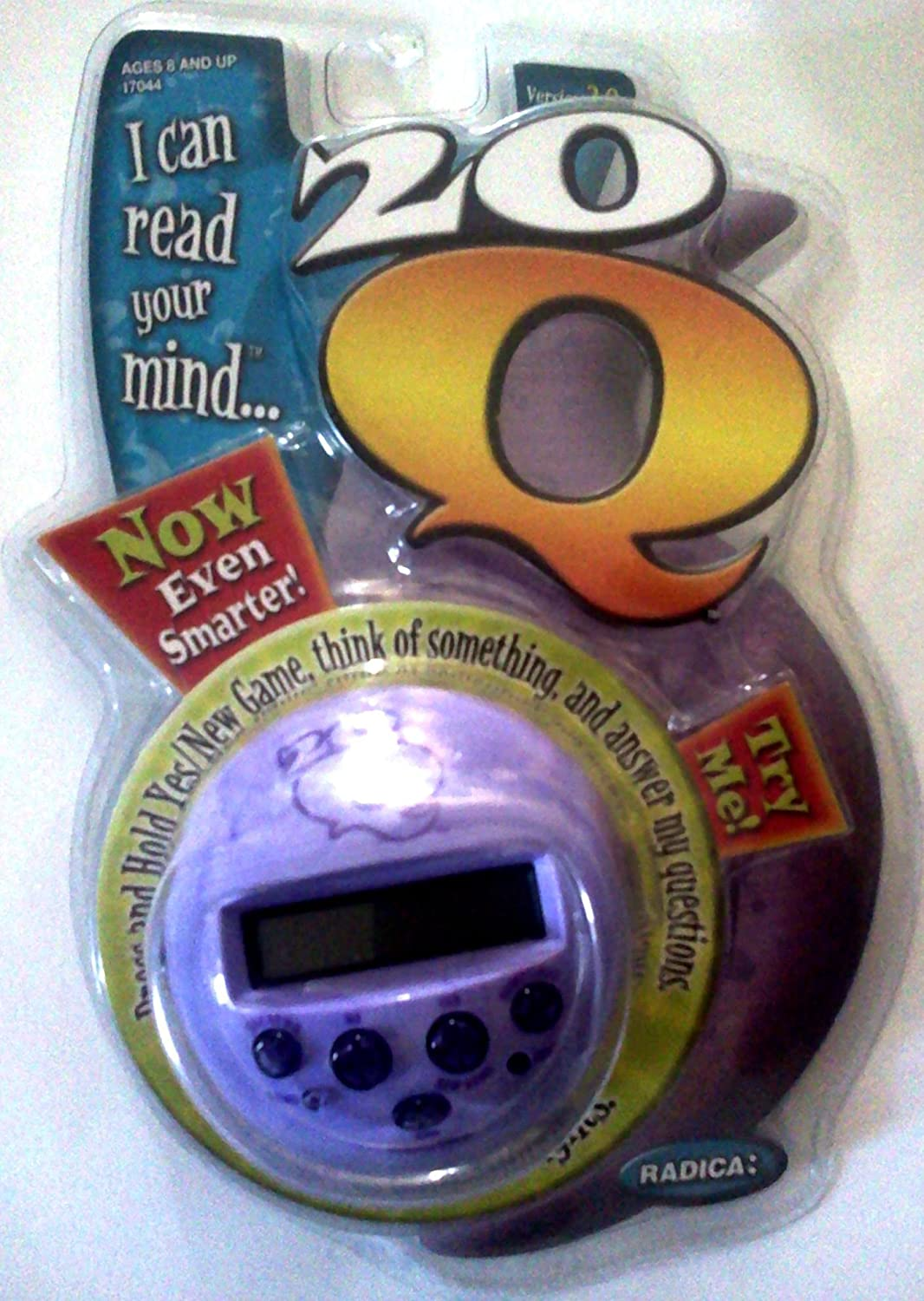 20Q Version 2.0 Mind Reading Game Handheld Electronic Mattel Marble Swirl version (Colors May Vary)