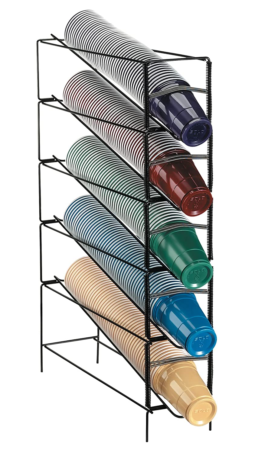 Dispense-Rite WR-CT-5 Five Section Vertical Wire Rack Cup Dispenser