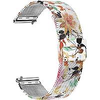 TRUMiRR Vervanging voor Garmin Vivoactive 3/3 Music armband, 20 mm mesh geweven roestvrij stalen horlogeband metalen…