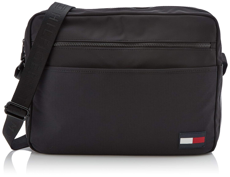 5079ee9af354b Tommy Hilfiger Sport Mix Messenger, Men's Bag, Black, 9x31x39 cm (B x H T)