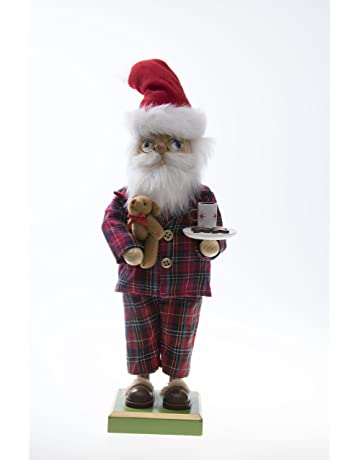 a508e0ff5b70a Clever Creations Traditional Wooden Pajama Santa Christmas Nutcracker  Collectible Mr. Claus in PJs