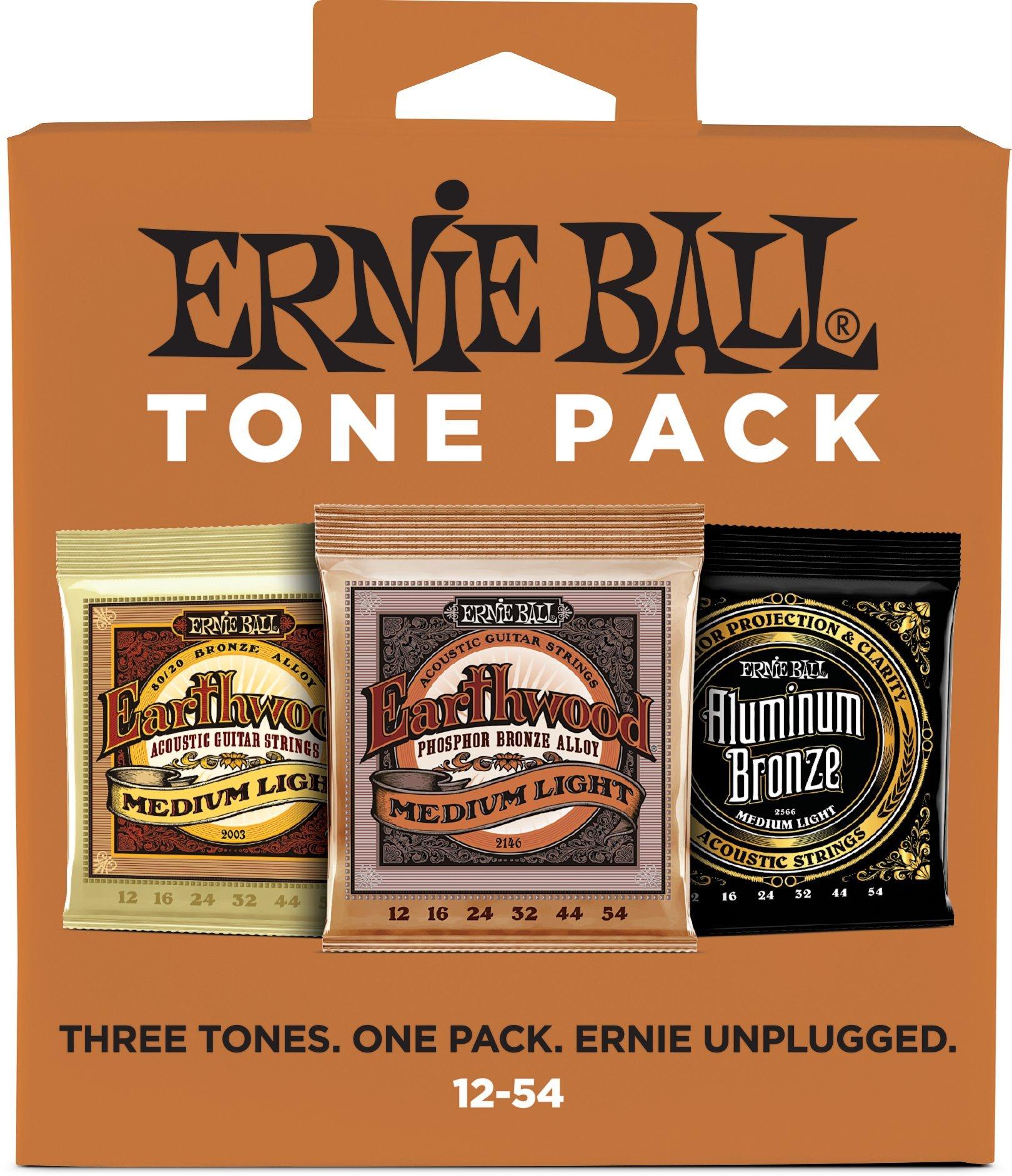 Ernie Ball Medium Light Acoustic Tone Pack - 12-54 Gauge