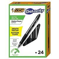 24-Count BIC Gelocity Original Retractable Gel Pen (0.7 mm)