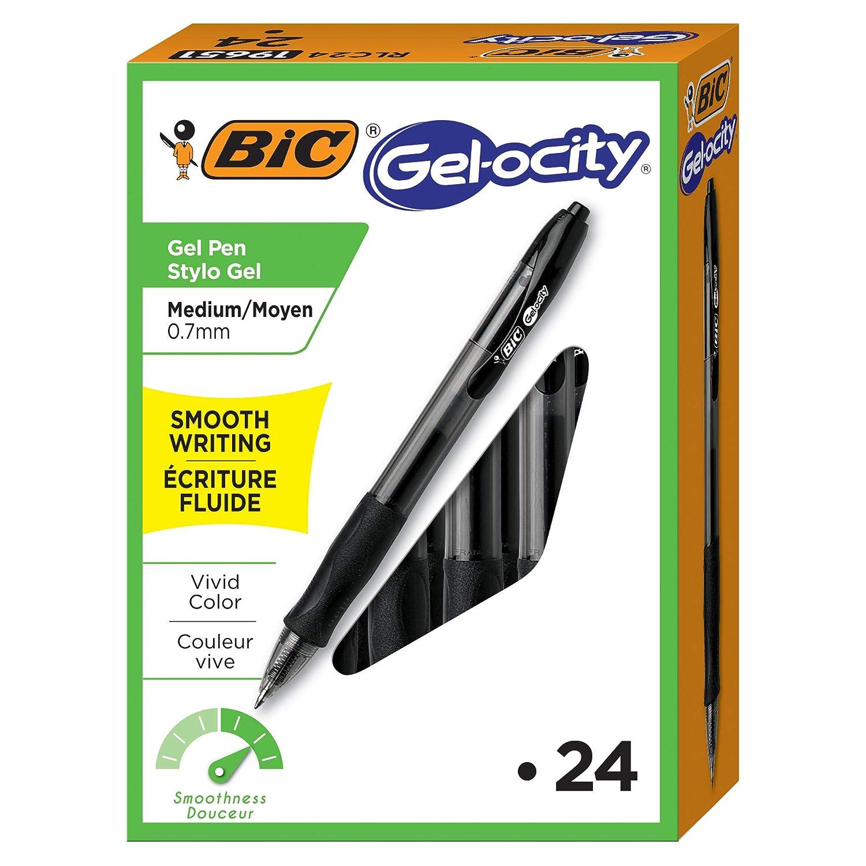 0.7 mm Blue 12 Pens by BIC Corporation BIC Velocity Retractable Gel Pen Medium Point Refillable
