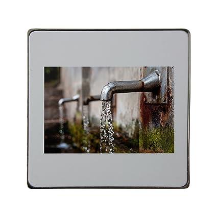 Grifo dispensador de agua, pluma estilográfica, metal cuadrado imán para nevera