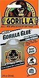 Gorilla White Waterproof Polyurethane Glue, 2 ounce Bottle, White, (Pack of 1)