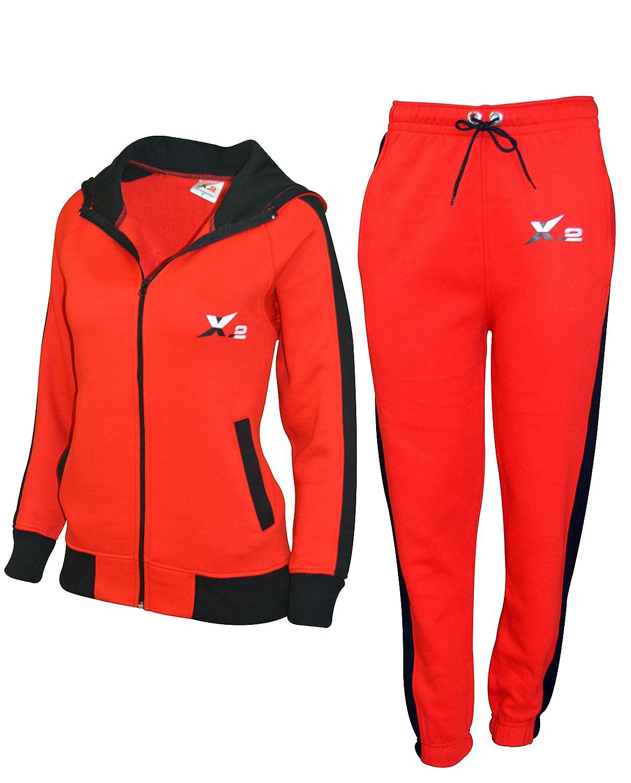 X-2 De las Mujeres Atlético Cremallera Fleece Chandal Jogging Ropa ...