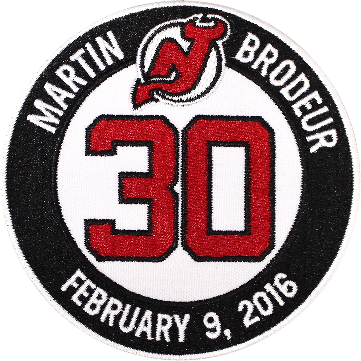 size 40 08469 03cb9 National Emblem Martin Brodeur Retirement Ceremony New Jersey Devils Jersey  #30 Patch (2016)
