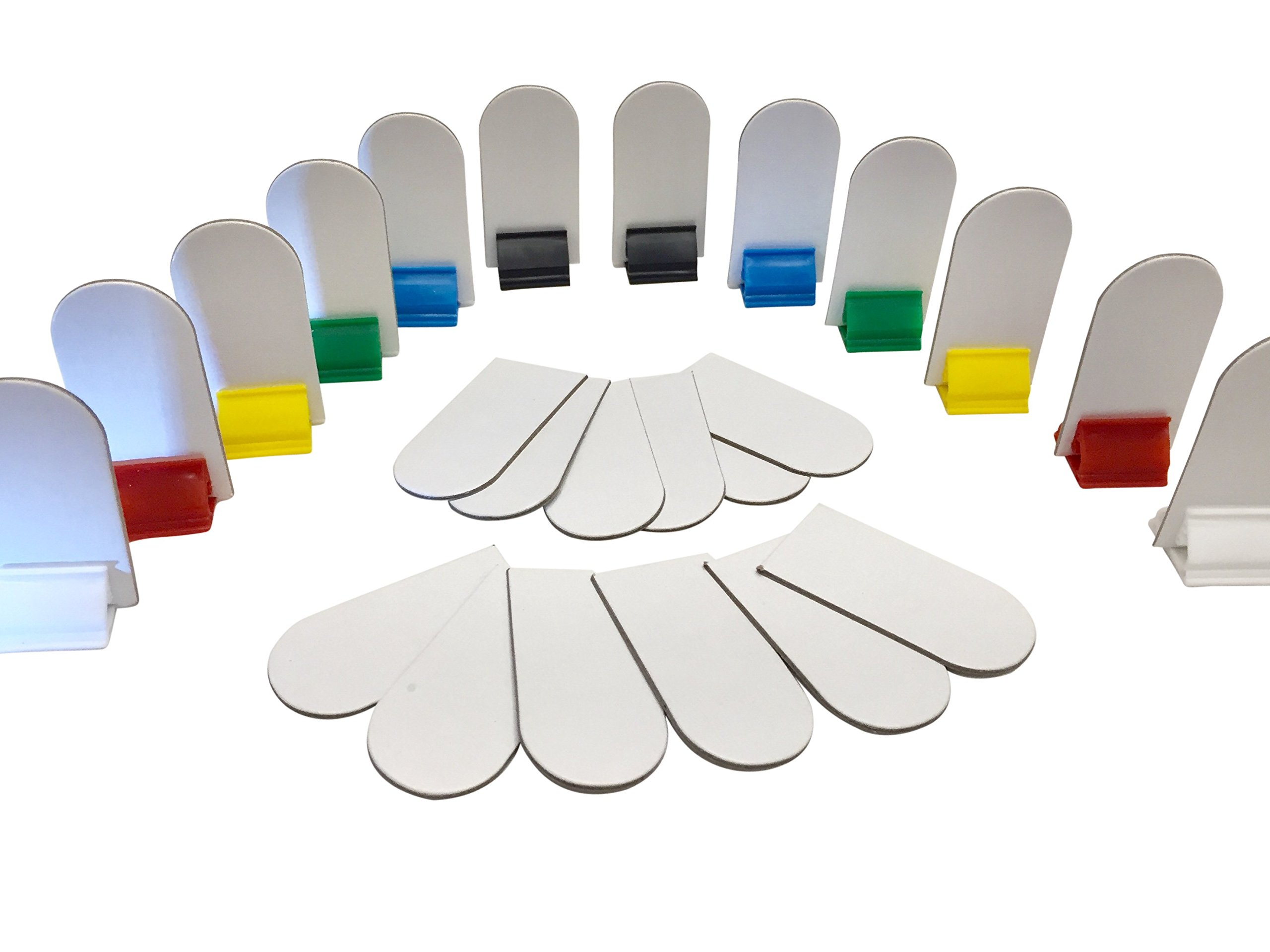 Game Board Markers | Board Game Card Stand - 12 Stands Plus 24 White Die Cut Cards DIY Game Board Pieces - Yardware etcetera