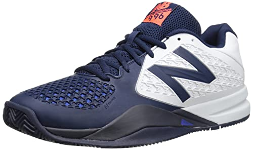 reputable site 08f81 f6442 New Balance Men s MC996 Lightweight Tennis Shoe-M, White Blue, 15 2E