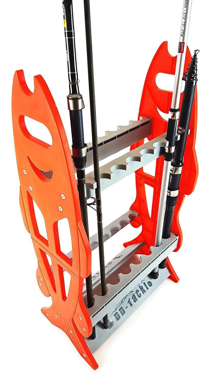 DD-Tackle Soporte para guardar cañas de pescar (capacidad para 16 cañas) 4872313198226