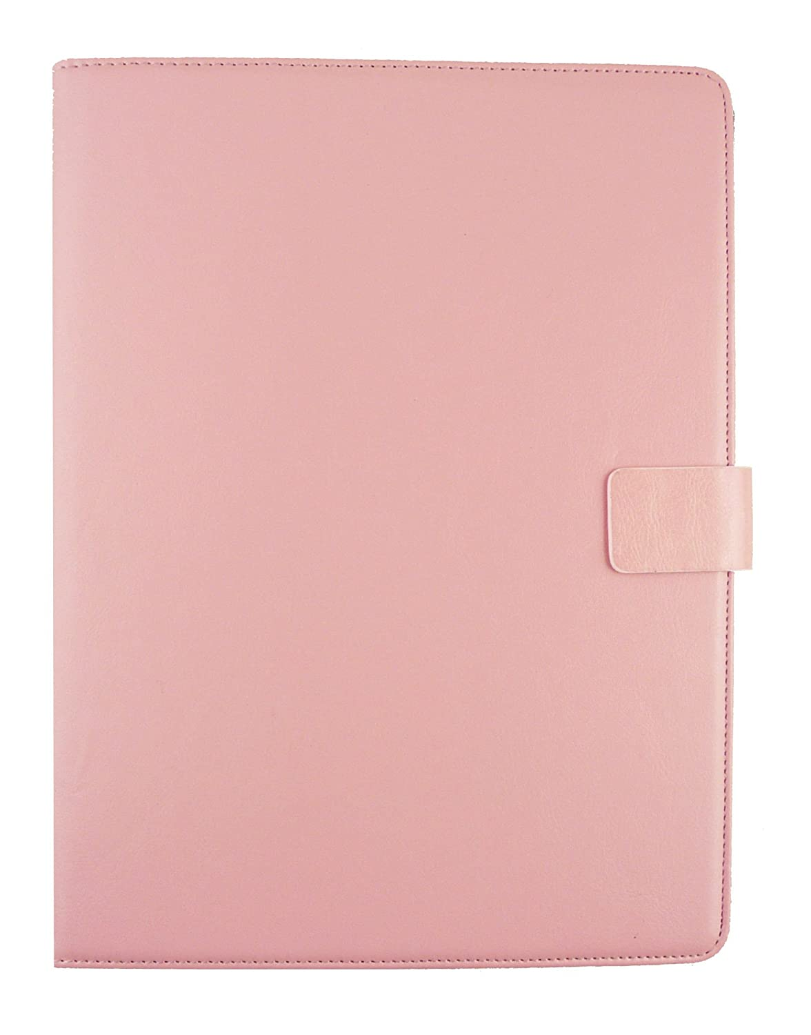 Emartbuy/® LG G Pad 2 8.0 Tablet 8 Inch Universal Range Baby Pink Multi Angle Executive Folio Wallet Case Cover With Card Slots Hot Pink Stylus